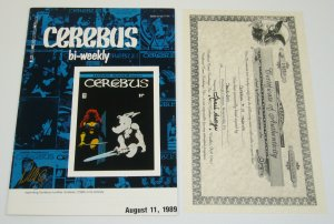 Cerebus Bi-Weekly #19 VF- signed by dave sim with COA from 1994 aardvark