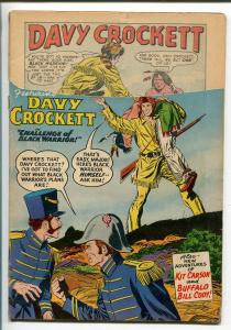 FRONTIER FIGHTERS #1 1955-IST ISSUE-DAVY CROCKETT-BUFFALO BILL-JOE KUBERT-good