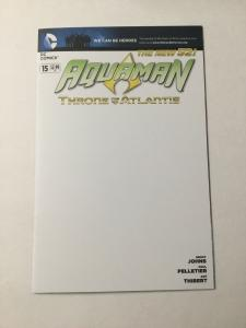 Aquaman 15 Nm Near Mint Blank Variant  DC Comics