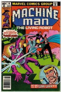 MACHINE MAN 16 F-VF Aug. 1980 COMICS BOOK