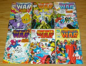 Infinity War #1-6 VF/NM complete serie JIM STARLIN thanos & adam warlock set