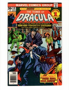 TOMB OF DRACULA #49 (7.0-7.5) Frankenstein Appearance Marvel Comics Bronze Age