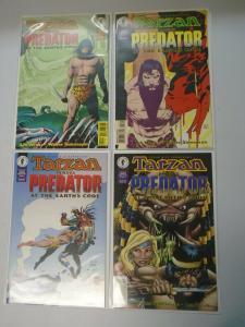 Tarzan vs Predator at the Earth's Core set #1-4 average 8.5 VF+ (1996)