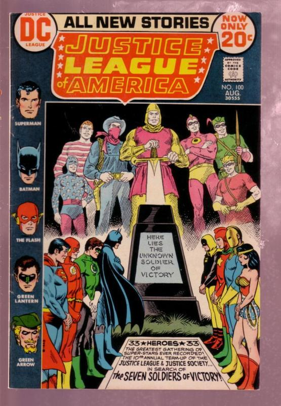 JUSTICE LEAGUE OF AMERICA#100 '72-7 SOLDIERS OF VICTORY VF