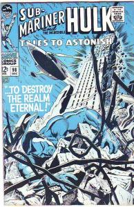 Tales to Astonish #98 (Dec-67) FN/VF Mid-High-Grade Incredible Hulk, Namor