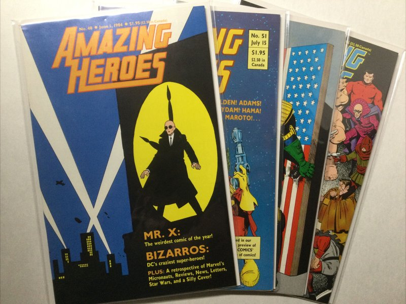 Amazing Heroes 48 51 52 54 Vf Very Fine 8.0 First Comics