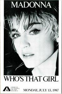 Madonna Who's That Girl Super Rare AIDS Comic Promo NYC MSG VF-NM File Copy COA