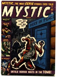 MYSTIC #7 1952-ATLAS-Joe Maneely cover-HORROR-VIOLENT-TERROR