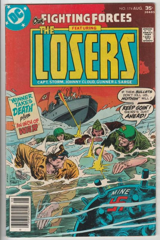 Our Fighting Forces #174 (Aug-77) FN+ Mid-High-Grade The Losers (Capt. Storm,...