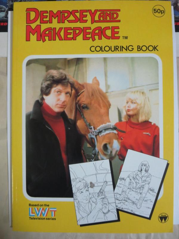 Dempsey and Makepeace Coloring Book Based on the UK Police TV Series