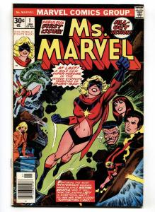 MS. MARVEL #1 First issue-comic book Bronze Age Marvel VF 1976