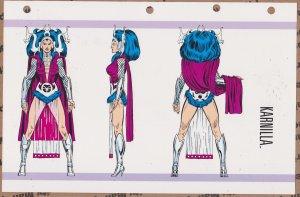 Official Handbook of the Marvel Universe Sheet- Karnilla