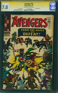Avengers #24 (Marvel, 1966) CGC Signature Series 7.0 Stan Lee