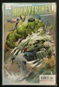 Hulkverines #1 Regular Cover Signed By Greg Pak + COA Hulk, Wolverine NM