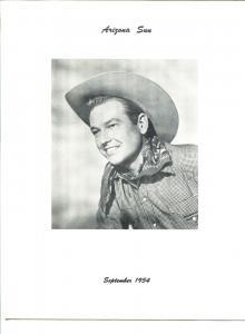 Arizona Sun - Rex Allen Fan Club Magazine -09/1954-B-WESTERNS-KOKO-vg