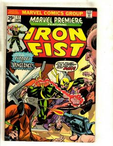 Marvel Premiere # 17 VF Comic Book Feat. Iron Fist Kung Fu Karate Defenders RS1