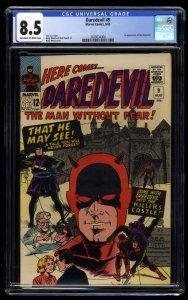 Daredevil #9 CGC VF+ 8.5 Off White to White