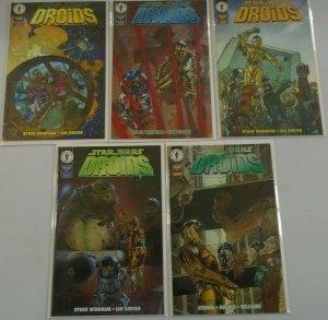 Star Wars Droids (3rd Series) set:#1-5 8.0 VF (1995)