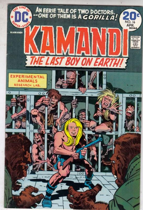 Kamandi the Last Boy on Earth #16 (Apr-74) VF/NM+ High-Grade Kamandi