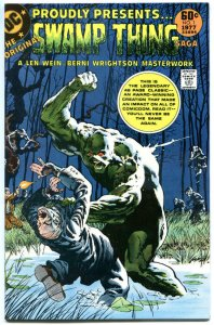 SWAMP THING SAGA #1, VF/NM, Bernie Wrightson, DC 1977  more DC in store