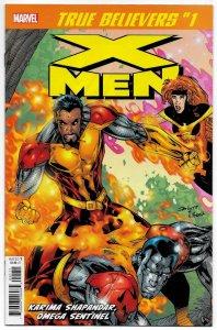 True Believers X-Men Karima Shapandar Omega Sentinel #1 (Marvel, 2019) NM