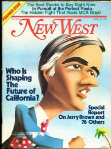 New West #1 4/26/1976-1st issue-Jerry Brown cover-historic magazine-VG