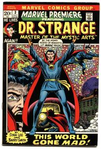 MARVEL PREMIERE #3-1972-FIRST DOCTOR STRANGE IN TITLE-GREAT COVER