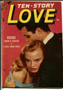 Ten-Story Love #195 1954-Ace-former pulp-spicy romance art-photo cover-VG