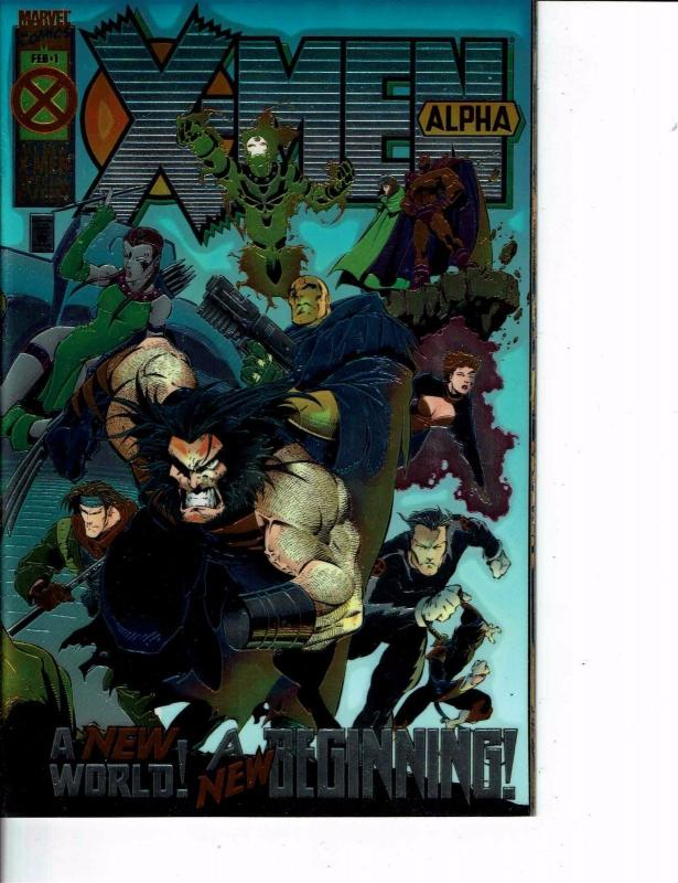 Lot Of 2 Marvel Comic Books X-Men Alpha #1 and X Man #1  ON5