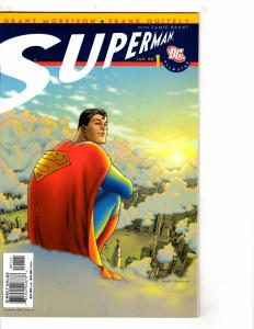 Lot Of 9 DC Comic Books All Star Superman 1 2 3 4 5 + Titans # 20 21 22 23 RC9