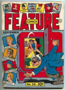 Feature Comics #36 1940- DOLL MAN- Lou Fine G-