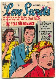 Love Secrets #34 1953- Bill Ward- Golden Age Romance G/VG
