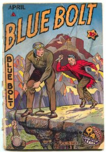 Blue Bolt Vol 5 #7 1945- Sgt Spook- Golden Age FAIR