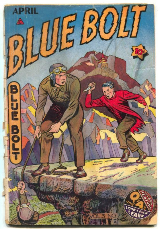 Blue Bolt Vol 5 #7 1945- Sgt Spook- Golden Age FAIR