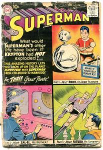 SUPERMAN #132 1959-DC COMICS-ROBOT COVER FUTURO ZAL-EL P/FR