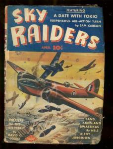 SKY RAIDERS PULP #3-APRIL 1943-SAND SKIES SWASTIKAS-WW2 G