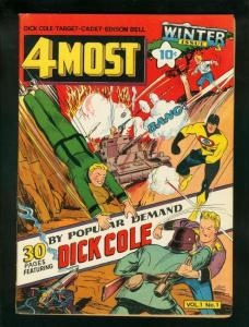 4MOST COMICS v.1 #1 1942-DICK COLE-TARGET-CADET-WW II   VG/FN