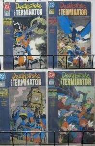 DEATHSTROKE TERMINATOR (DC, 1991) #6-9 City of Assassins BATMAN  arc! VF+