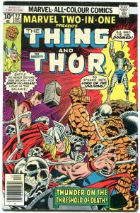 Marvel Two-In-One #22 1976- Rare UK Pence variant- Thing- Thor VG