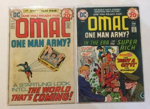 Omac One Man Army 1 & 2 First 1st Appearance Of Omac VG Very Good 4.0