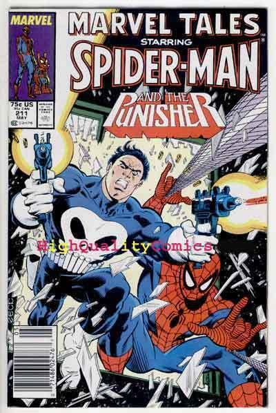 MARVEL TALES #211, NM, Spider-man, Punisher, Ross Andru, Mike Zeck