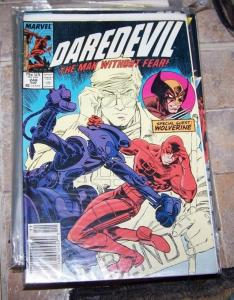 DAREDEVIL COMIC # 248 MARVEL 1987 + WOLVERINE BUSHWACKER MATT MURDOCK NETFLIX