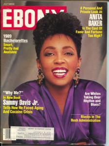 Ebony 7/1989-Anita Baker-Sammy Davis Jr-Rhythm & Blues-FN