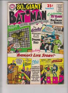 80 Page Giant #5 VG december 1964 - batman - robin - silver age dc comics