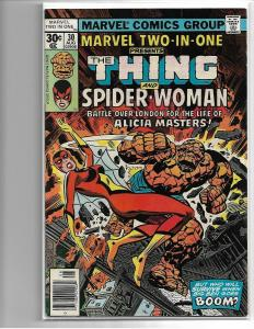 MARVEL TWO-IN-ONE #30 - VG/FN - (1977) 2ND APP SPIDER-WOMAN - BRONZE AGE MARVEL