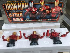 Iron Man 3 pack Silver Centurion Modern Retro Marvel Bowen Mini Bust 2235/2500