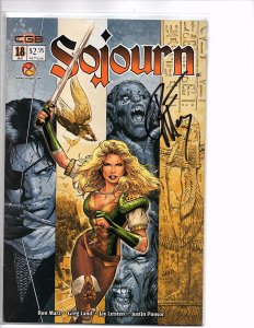 Crossgen Comics Sojourn #18 Greg Land Art Signed By Ron Marz With COA