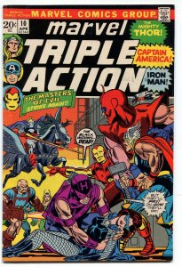 Marvel Triple Action 10 VF- 7.5 Avengers Marvel 1973 Uncertified FREE SHIP