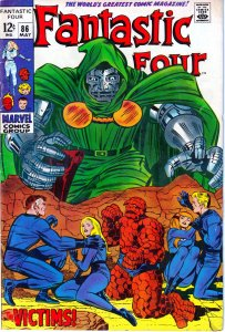 Fantastic Four(vol. 1) # 86 Doom vs a powerless FF !