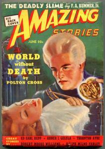 Amazing Stories Pulp June 1939- Radio Man Returns- World without Death FN-